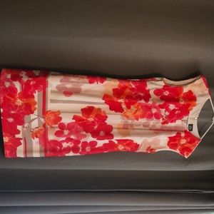 Brand new bright floral print sheath dress